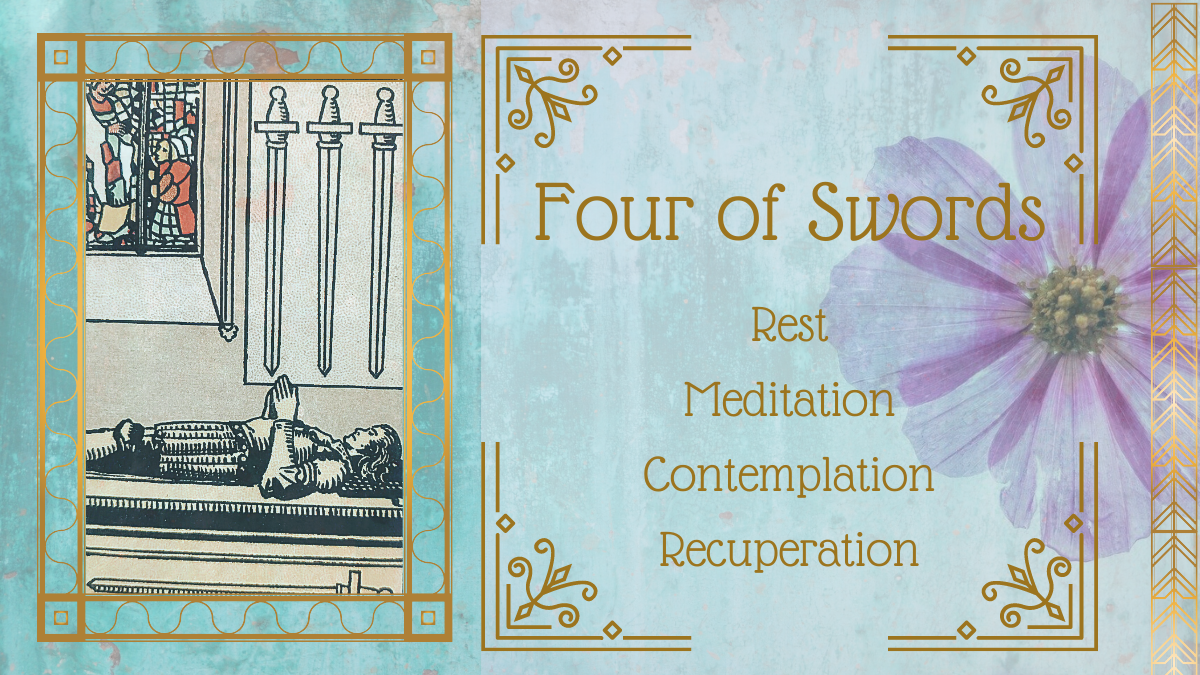 Four of Swords tarot card meaning